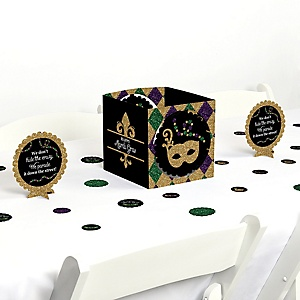 Mardi Gras - Masquerade Party Centerpiece and Table Decoration Kit