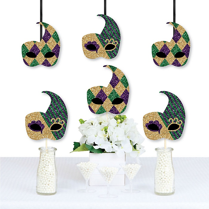 Mardi Gras - Mask Decorations DIY Masquerade Party Essentials - Set of 20