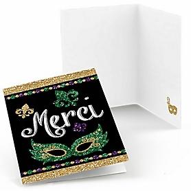 Mardi Gras - Masquerade Party Thank You Cards - 8 ct