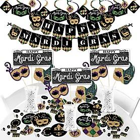 Mardi Gras - Masquerade Party Supplies - Banner Decoration Kit - Fundle Bundle