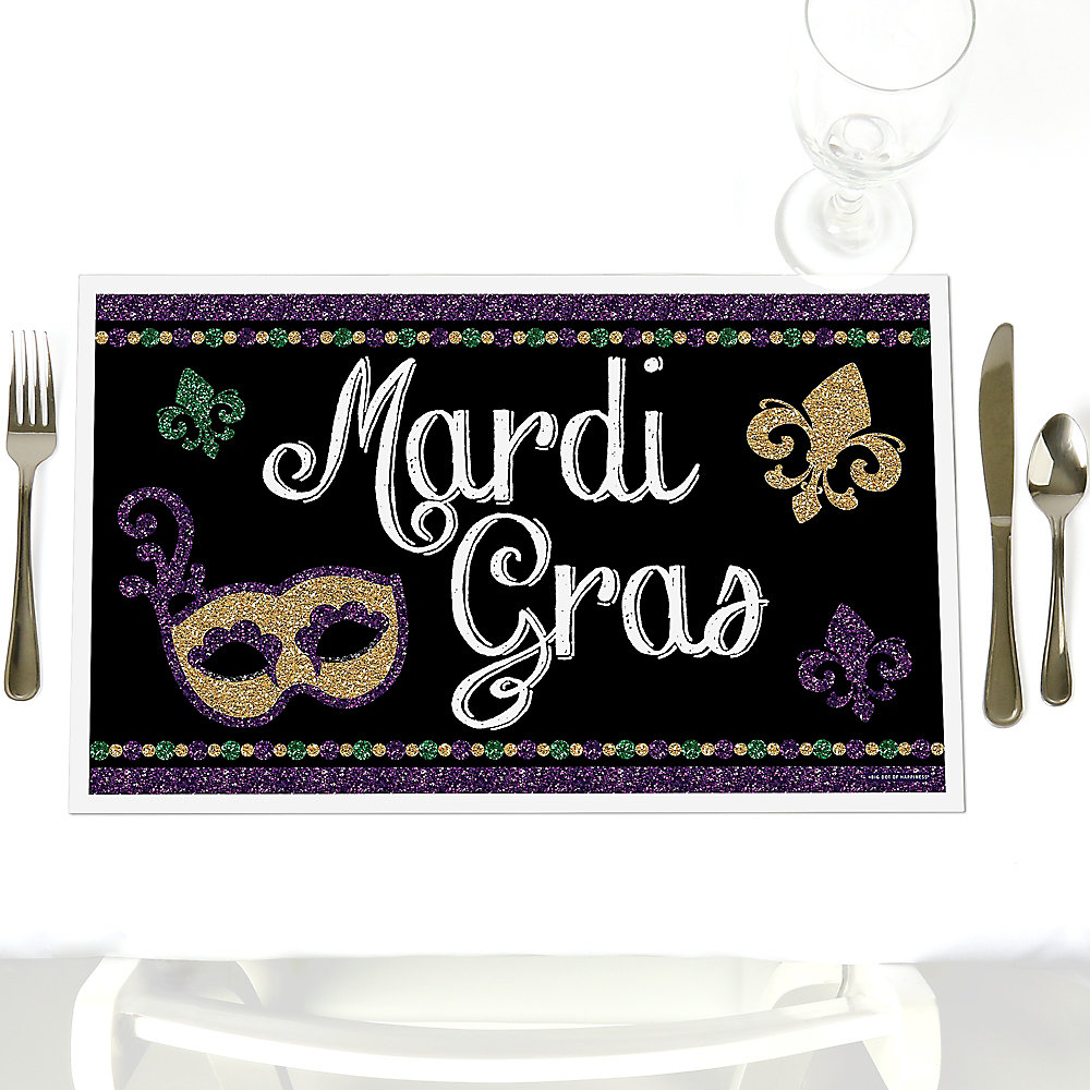 Outstanding Mardi Gras Party Table Decorations Masquerade Party Placemats Set Of 12 Download Free Architecture Designs Scobabritishbridgeorg