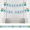 Let's Be Mermaids - Personalized Baby Shower Bunting Banner & Decorations