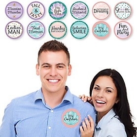 Trading The Tail For A Veil - Mermaid Bachelorette or Bridal Shower Man Hunt Stickers - Set of 12