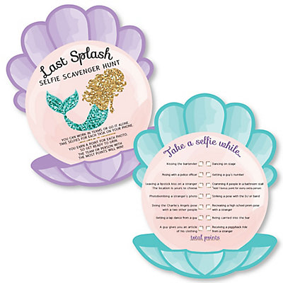 trading the tail for a veil selfie scavenger hunt mermaid bachelorette party or bridal shower game set of 12
