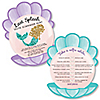 Trading The Tail For A Veil - Selfie Scavenger Hunt Mermaid Bachelorette Party or Bridal Shower Game - Set of 12