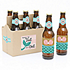 Will You Be My Bride's Mermaid? - 6 Mermaid Will You Be My Bridesmaid Beer Bottle Label Stickers and 1 Carrier