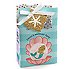 Let's Be Mermaids - Personalized Baby Shower or Birthday Party Favor Boxes - Set of 12