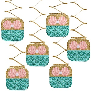 Let's Be Mermaids - Baby Shower or Birthday Party Hanging Decorations - 6 ct