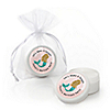 Let's Be Mermaids - Personalized Baby Shower or Birthday Party Lip Balm Favors - Set of 12