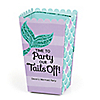 Let's Be Mermaids - Personalized Baby Shower or Birthday Party Popcorn Favor Treat Boxes - Set of 12