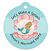 Let's Be Mermaids - Round Personalized Baby Shower or Birthday Party Tags - 20 ct