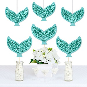Let's Be Mermaids - Tail Decorations DIY Baby Shower or Birthday Party Essentials - Set of 20