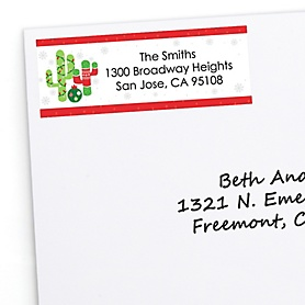 Merry Cactus - Personalized Christmas Cactus Party Return Address Labels - 30 ct