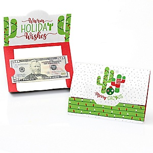 Merry Cactus - Christmas Cactus Party Money And Gift Card Holders - Set of 8