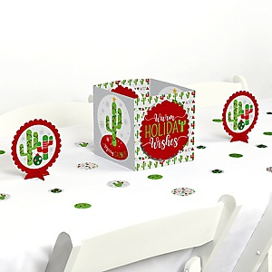Merry Cactus - Christmas Cactus Party Centerpiece and Table Decoration Kit