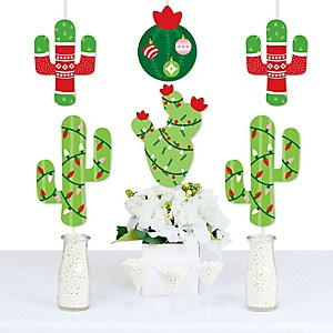 Merry Cactus - Decorations DIY Christmas Cactus Party Essentials - Set of 20