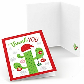 Merry Cactus - Christmas Cactus Party Thank You Cards  - 8 ct