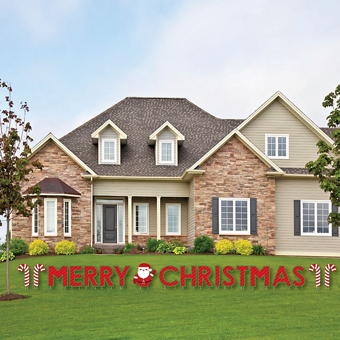 Merry Christmas - Yard Sign Outdoor Lawn Decorations - Christmas Yard Signs