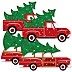 Merry Little Christmas Tree - Decorations DIY Red Truck and Car Christmas Party Essentials - Set of 20