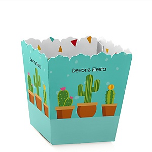 Let's Fiesta - Party Mini Favor Boxes - Personalized Mexican Fiesta Party Treat Candy Boxes - Set of 12
