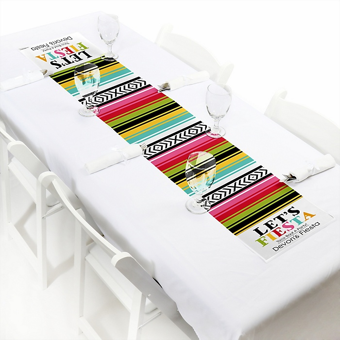Let's Fiesta - Personalized Mexican Fiesta Party Petite Table Runner