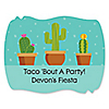Let's Fiesta - Personalized Mexican Fiesta Party Squiggle Stickers - 16 ct