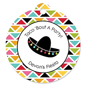 Let's Fiesta - Personalized Mexican Fiesta Party Tags - 20 ct