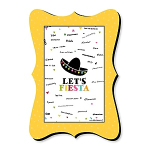 Let's Fiesta - Mexican Fiesta Party - Unique Alternative Guest Book - Mexican Party Signature Mat