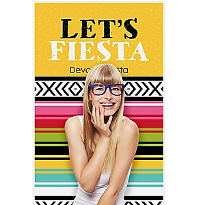 """Let's Fiesta - Mexican Fiesta Photo Booth Backdrops - 36"""" x 60"""""""