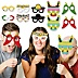 Let's Fiesta Glasses & Masks - Paper Card Stock Mexican Fiesta Photo Booth Props Kit - 10 Count