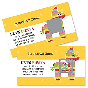 Let's Fiesta - Mexican Fiesta Party Game Scratch Off Cards - 22 ct