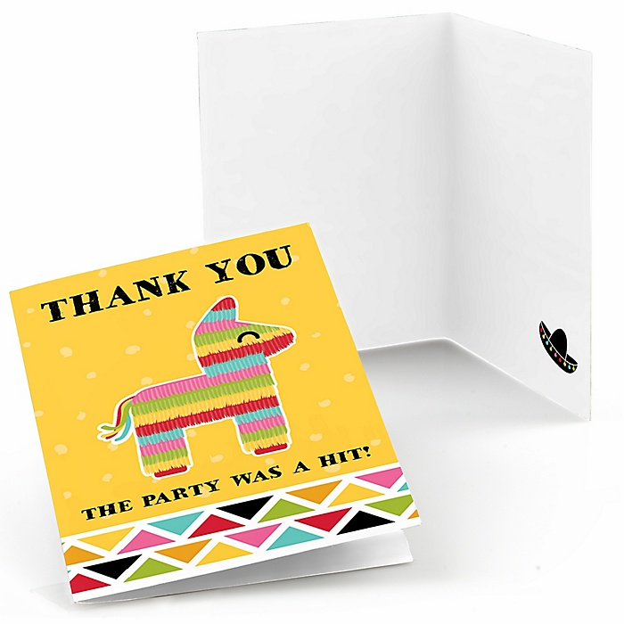 Let's Fiesta - Mexican Fiesta Party Thank You Cards - 8 ct