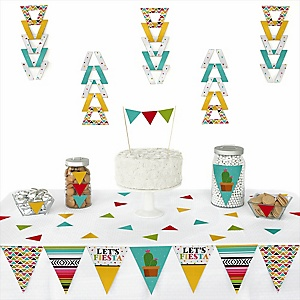 Let's Fiesta -  Triangle Mexican Fiesta Party Decoration Kit - 72 Piece