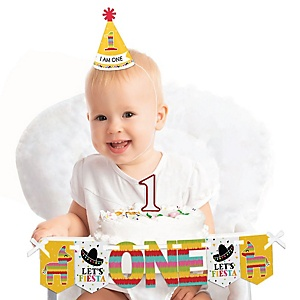 Let's Fiesta 1st Birthday - First Birthday Boy or Girl Smash Cake Decorating Kit - High Chair Decorations