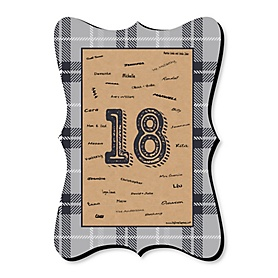 18th Milestone Birthday - Time To Adult - Unique Alternative Guest Book - 18th Birthday Party Signature Mat Gift