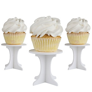 Mini Cupcake Pedestals - Individual Cupcake Stands - Set of 10