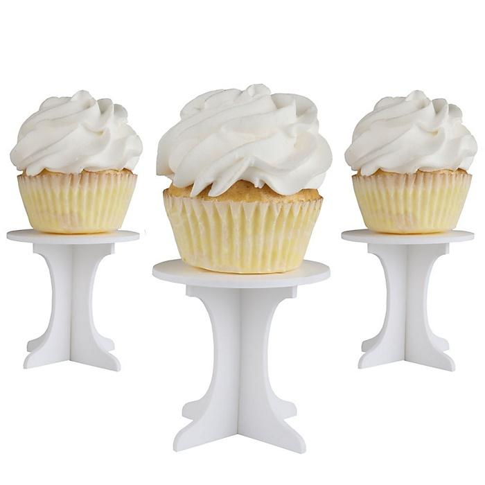 Mini Cupcake Pedestals - Individual Cupcake Stands - Set of 10