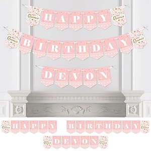 Mis Quince Anos - Personalized Quinceanera Sweet 15 Birthday Party Bunting Banner and Decorations