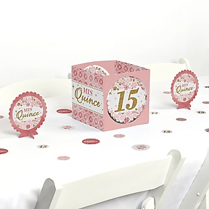 Mis Quince Anos - Quinceanera Sweet 15 Birthday Party Centerpiece & Table Decoration Kit