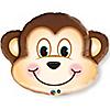 """Mischievous Monkey - Birthday Party Mylar Balloon - 30"""""""