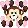 Mischievous Monkey Girl - Birthday Party Balloon Kit