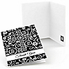Modern Floral Black & White - Thank You Cards - 8 ct