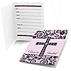 Modern Floral Wild Orchid - Baptism Fill In Invitations - 8 ct
