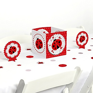 Modern Ladybug - Baby Shower or Birthday Party Centerpiece and Table Decoration Kit