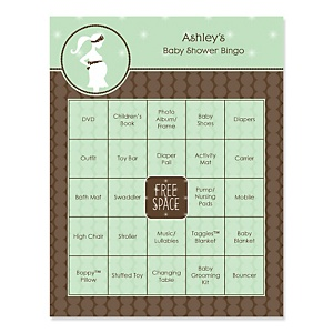 Mommy Silhouette It's A Baby - Bingo Personalized Baby Shower Games - 16 Count