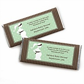 Mommy-To-Be Silhouette – It's A Baby - Personalized Baby Shower Candy Bar Wrapper Favors