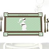 Mommy-To-Be Silhouette – It's A Baby - Personalized Baby Shower Placemats