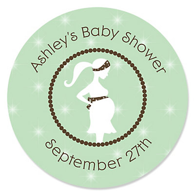 mommy to be silhouette it s a baby personalized baby shower
