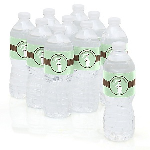 Mommy-To-Be Silhouette – It's A Baby - Personalized Baby Shower Water Bottle Sticker Labels - Set of 10