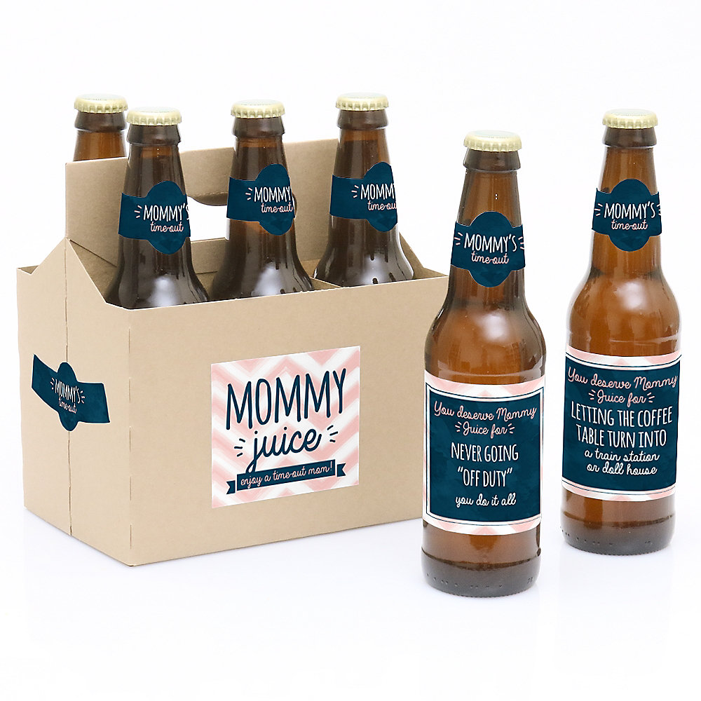 Miraculous Mommys Time Out Decorations For Women And Men 6 Beer Bottle Label And 1 Carrier Gifts For Mom Alphanode Cool Chair Designs And Ideas Alphanodeonline
